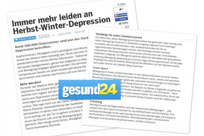 """Roman Braun in """"Gesund24"""""""