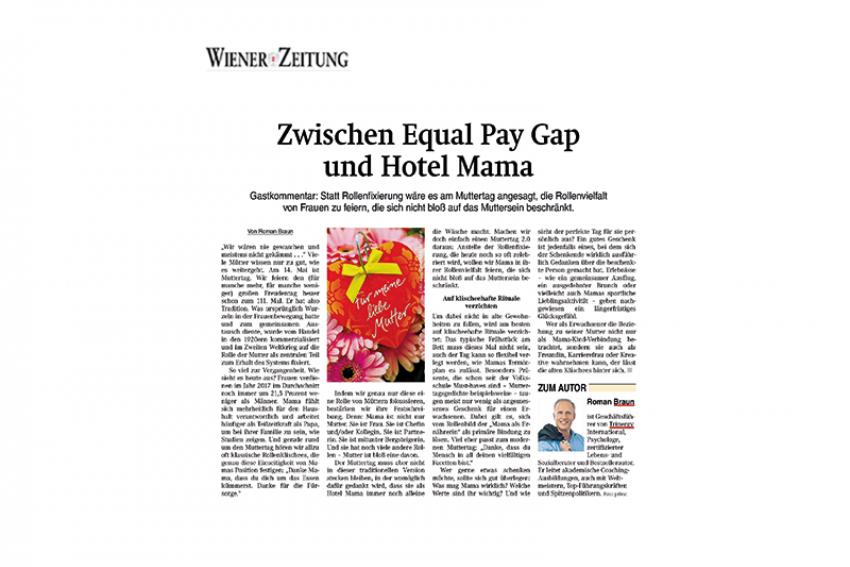 Dr. Roman Braun in der Wiener Zeitung