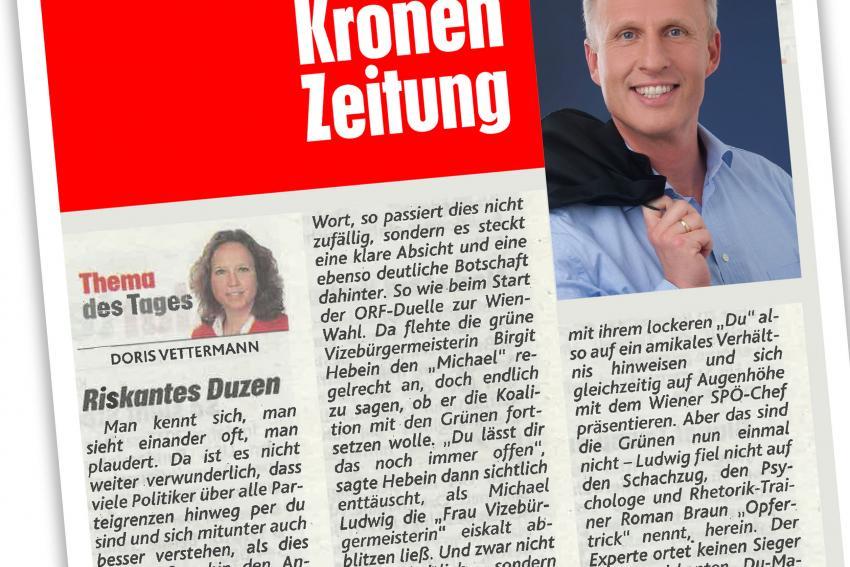 """Dr. Roman Braun in der """"Kronenzeitung"""" 09/2020"""