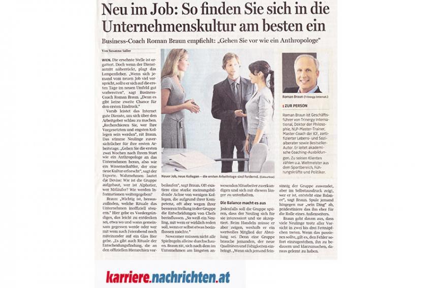 Dr. Roman Braun in den OÖ Nachrichten...