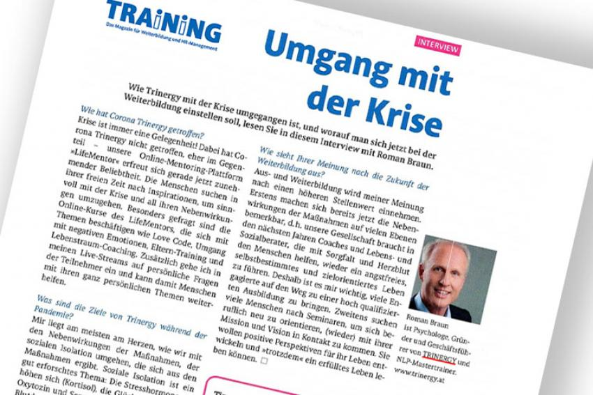 "Dr. Roman Braun im Magazin ""TRAINING"" 06/2021"