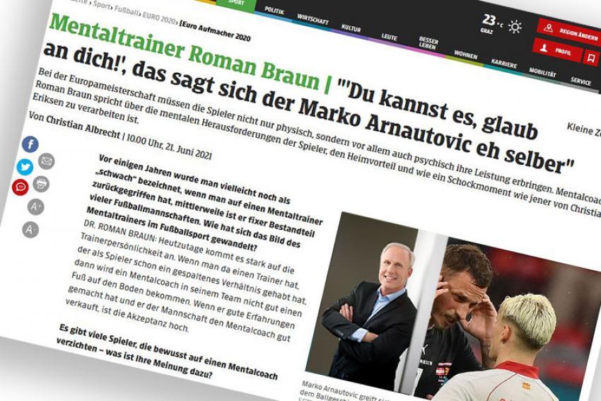 """Dr. Roman Braun in der """"KLEINE ZEITUNG"""" 06/2021"""
