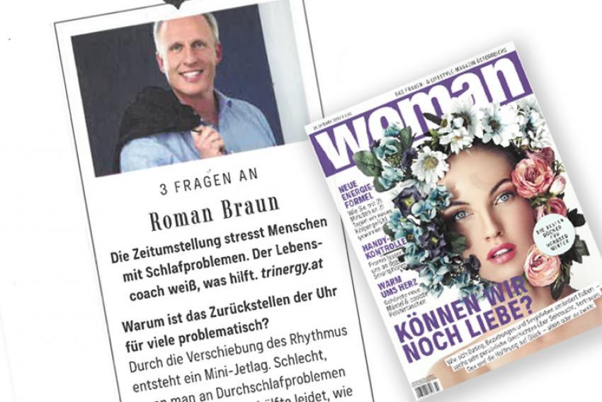 """Dr. Roman Braun in der """"Woman"""" 10/2019"""