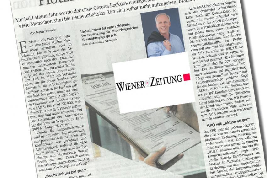 """Dr. Roman Braun in der  """"WIENER ZEITUNG"""" 02/2021"""