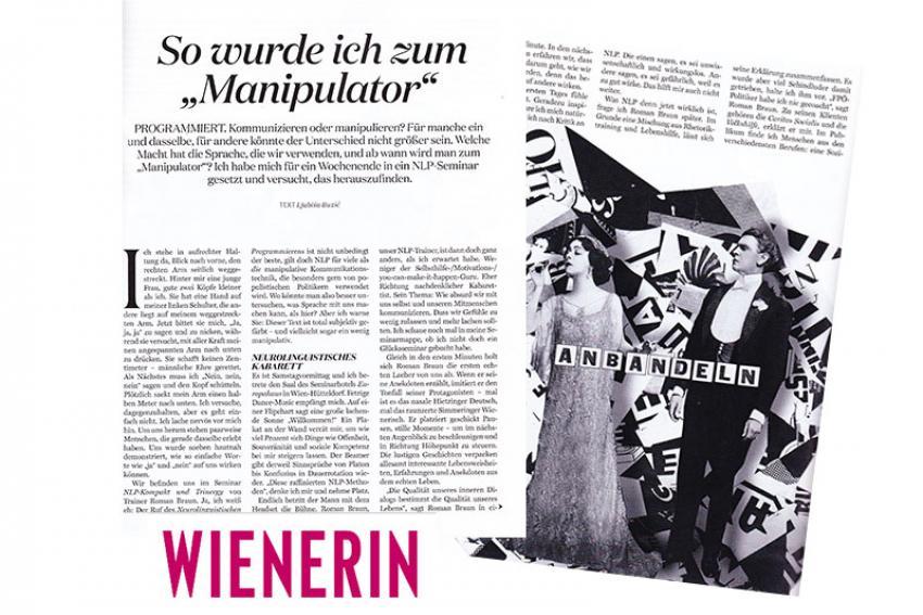 """Artikel in der """"Wienerin""""..."""