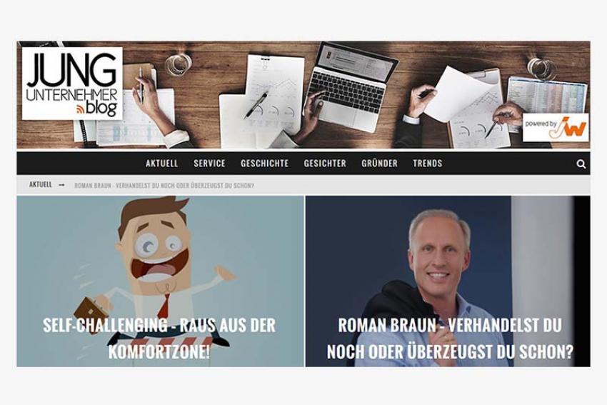 "Roman Braun im ""Jungunternehmer Blog"""