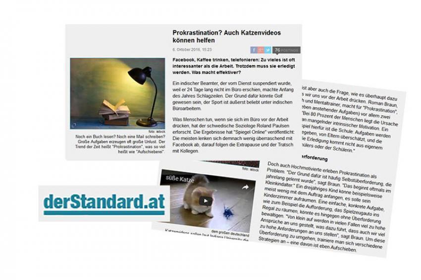 """Roman Braun im """"Standard Online""""..."""