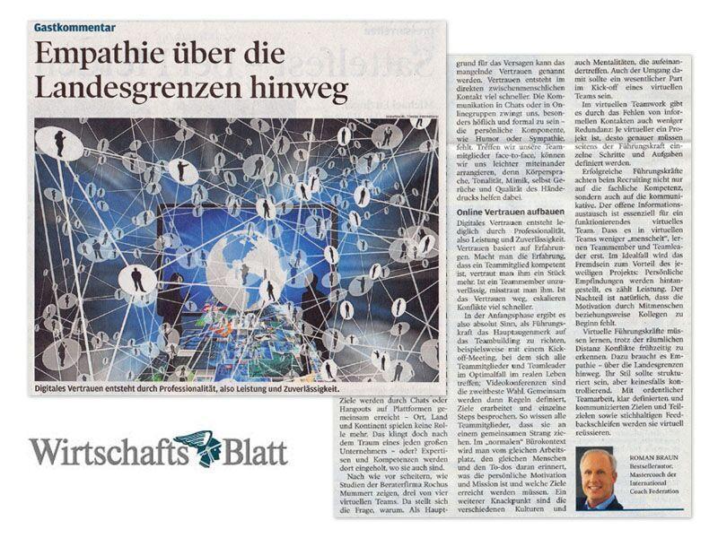 Roman Braun im Wirtschaftsblatt
