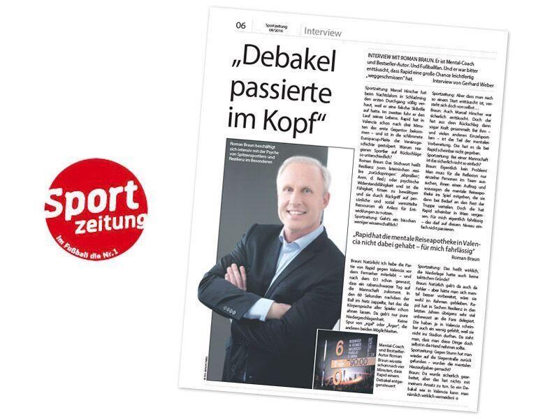 Roman Braun in der Sportzeitung