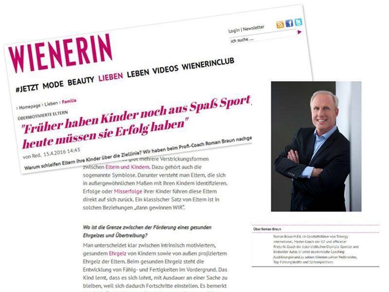 Roman Braun in der WIENERIN ...