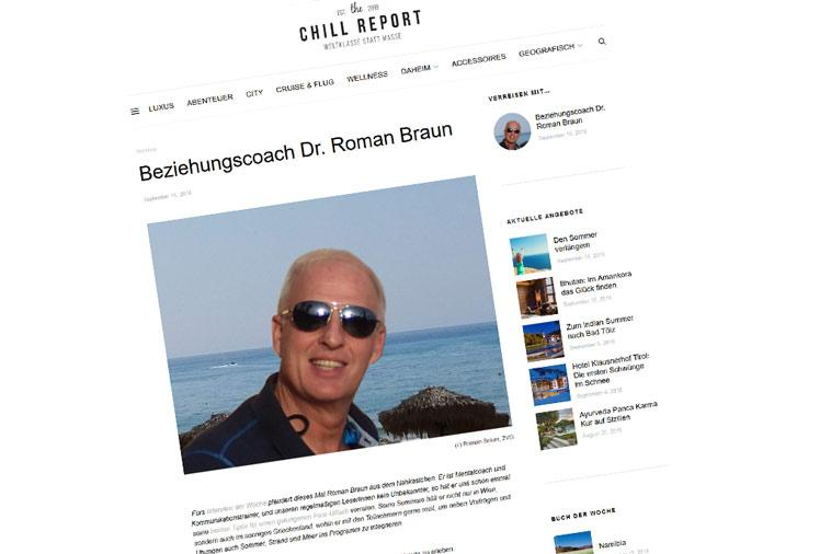 "Dr. Roman Braun im ""the Chill Report"" 09/2018"
