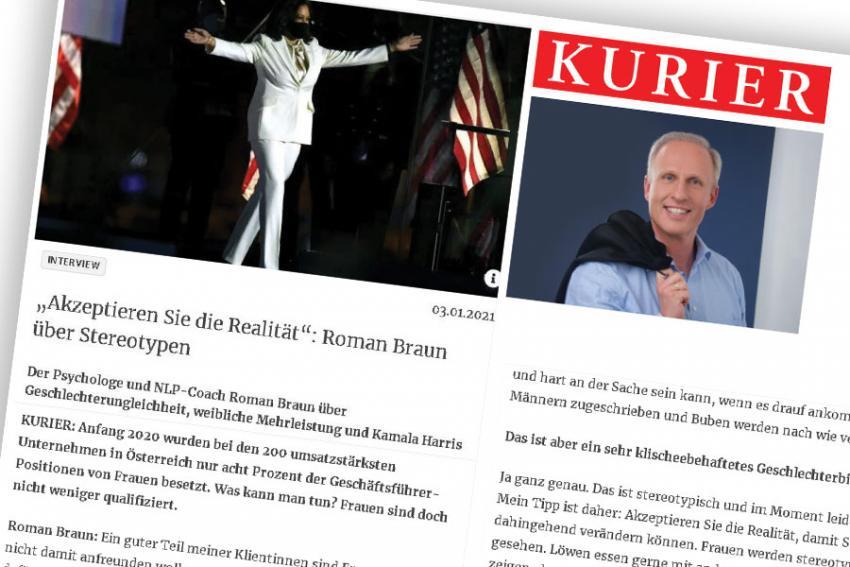 "Dr. Roman Braun im  ""KURIER"" 01/2021"