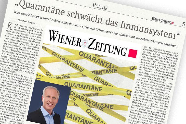 """Dr. Roman Braun in der """"WIENER ZEITUNG"""" 03/2020"""