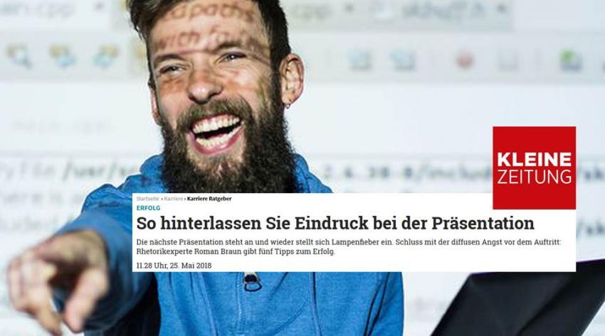 """Dr. Roman Braun in """"Kleine Zeitung"""" 05/2018"""