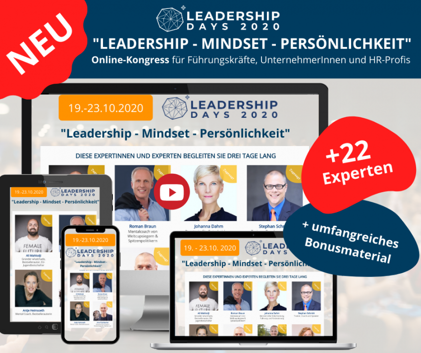 Dr. Roman Braun bei den LEADERSHIP DAYS 2020