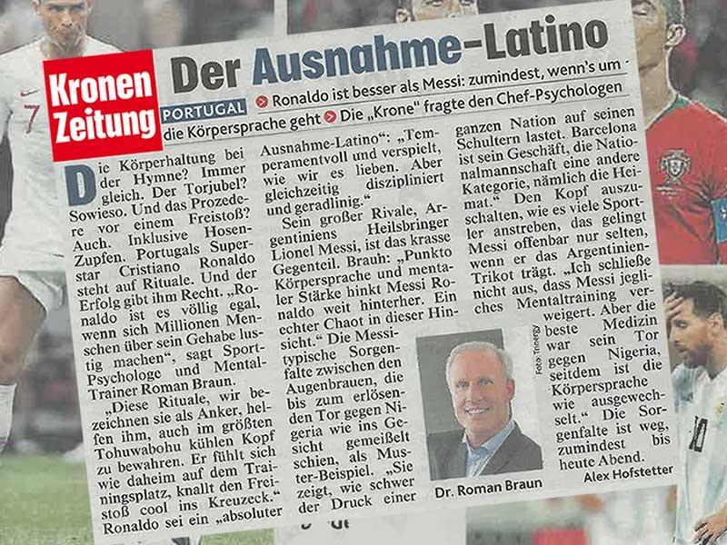 """Dr. Roman Braun in der  """"KRONENZEITUNG"""" 07/2018"""