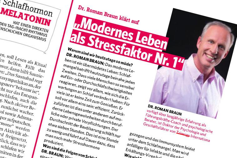 "Roman Braun in ""Gesund & Fit"" 01/2020"