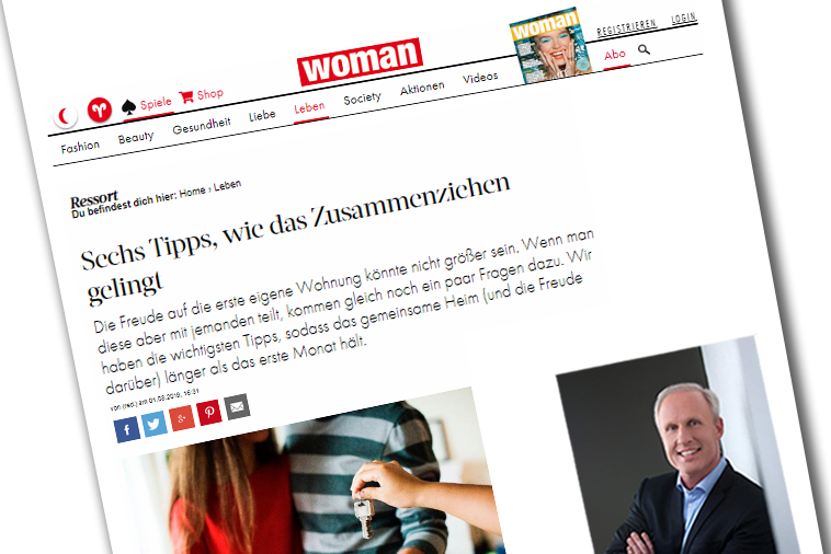 "Dr. Roman Braun in der ""WOMAN"" 08/2019"