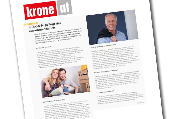 """Dr. Roman Braun in der """"Krone"""" 08/2019"""