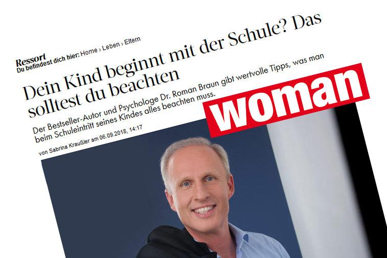 "Dr. Roman Braun in der ""WOMAN"" 09/2018"