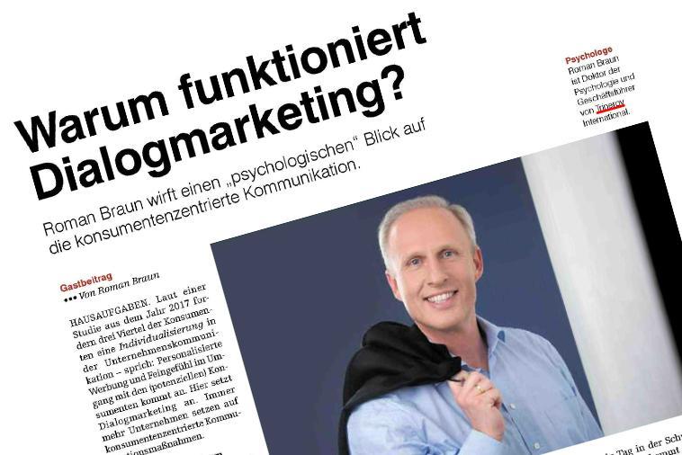 """Dr. Roman Braun im """"Medianet"""" 09/2018"""