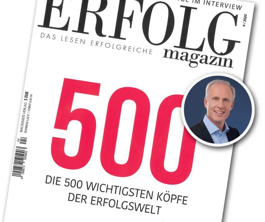 "Dr. Roman Braun in ""ERFOLG MAGAZIN"" 04/2020"