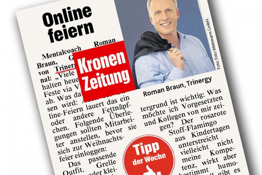 """Dr. Roman Braun in  """"KRONENZEITUNG"""" 12/2020"""