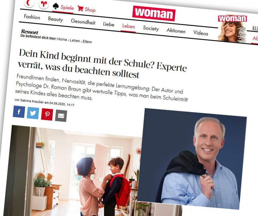 "Dr. Roman Braun in der ""WOMAN"" 09/2019"