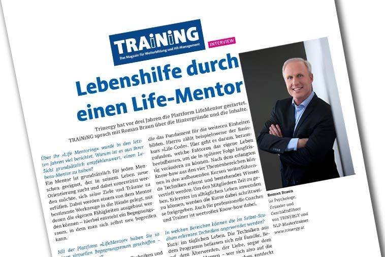 "Dr. Roman Braun im ""MAGAZIN TRAiNiNG"" 07/2019"