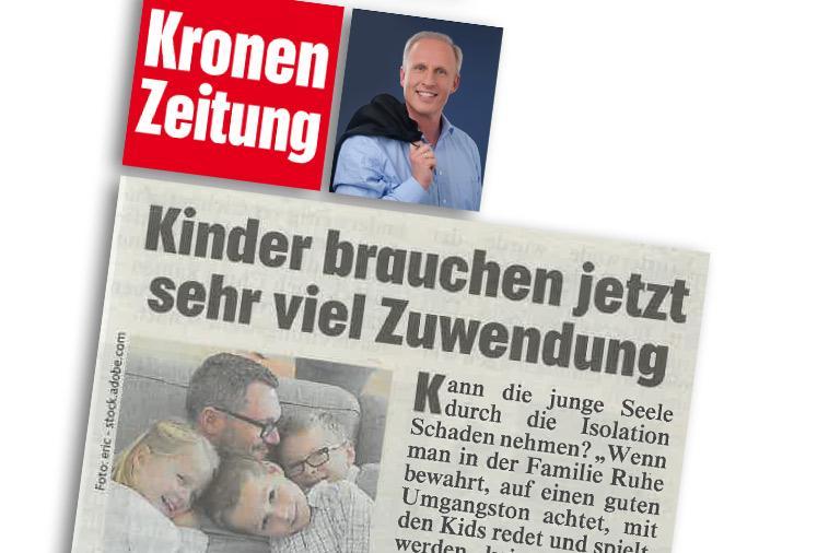 """Dr. Roman Braun in der """"KRONEN ZEITUNG"""" 03/2020"""