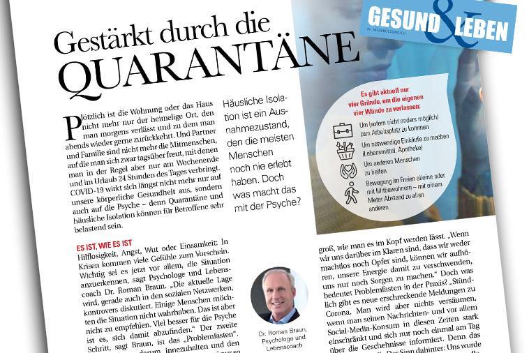 """Dr. Roman Braun in """"GESUND & LEBEN"""" 04/2020"""