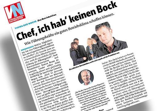 """Dr. Roman Braun in den """"Vorarlberger Nachrichten"""" 11/2018"""