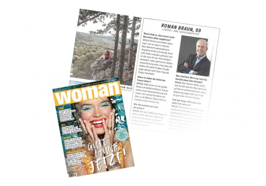 "Dr. Roman Braun in der ""WOMAN"" 07/2019"
