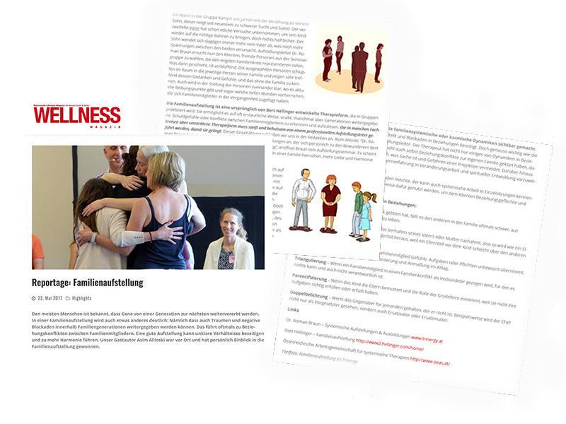 Dr. Roman Braun im Wellness-Magazin...