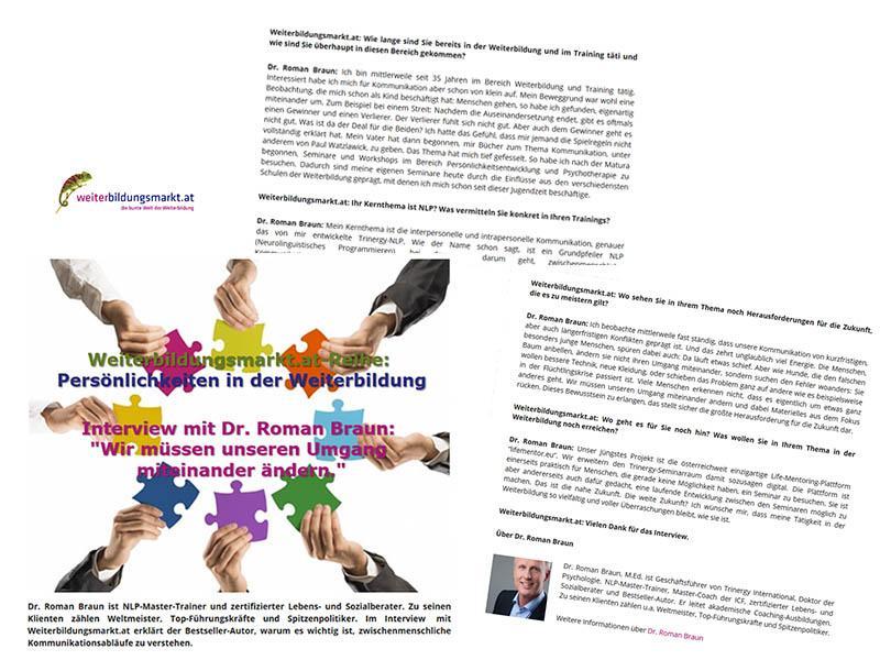 Dr. Roman Braun auf Weiterbildungsmarkt.at...