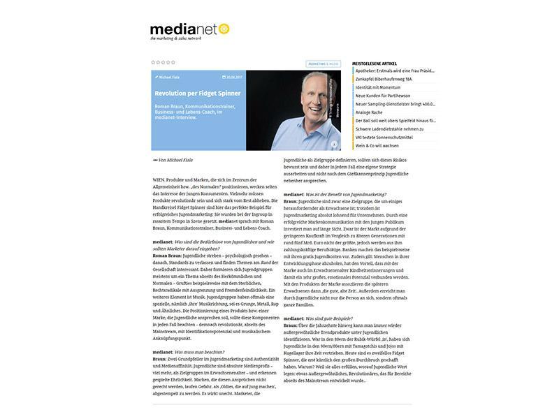 Dr. Roman Braun in MediaNet